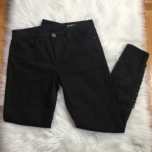 Blank NYC Intro Black Lace Up Jeans 28""